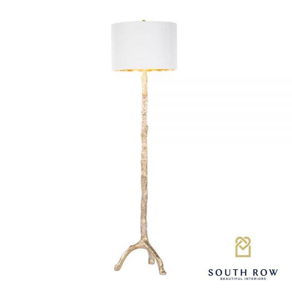 Tree Gold Floor Lamp Reflective Gold Inner Shade