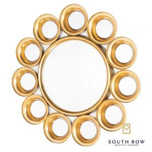 Harriet 12 Circles Mirror Gold