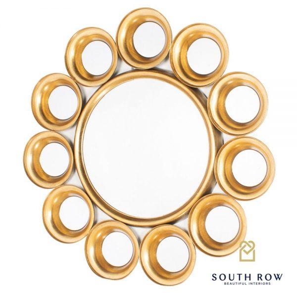 Harriet 12 Circles Mirror Gold