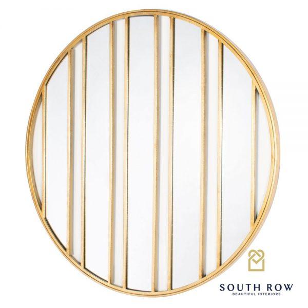 Harriet Stripes Wall Mirror Gold
