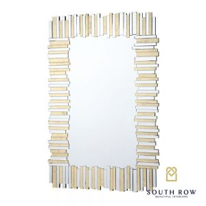 Ava Large Art Linear Gold Mirror