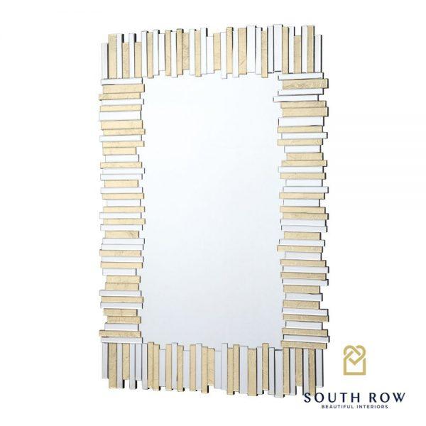 Ava Large Art Linear Gold Mirror
