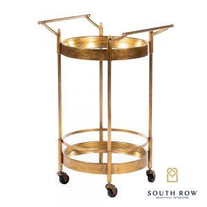 Harriet Round Drinks Trolley Antique Gold