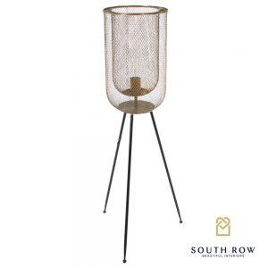 Azure Mesh Floor Standing Tripod Lamp
