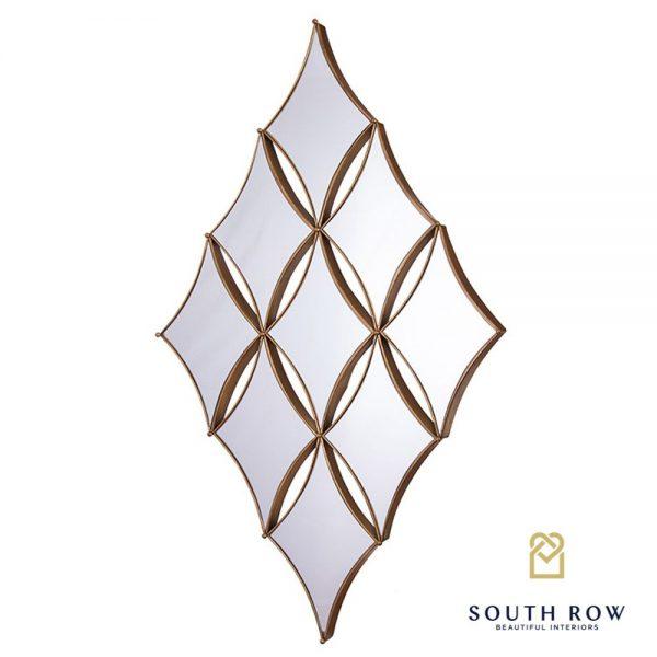 Penzance Gold Diamond 9 Mirror