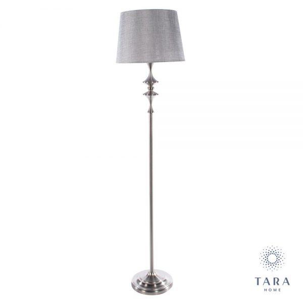 Mercury Satin Silver Floor Lamp