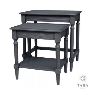 Brooklyn Set of 2 Charcoal Grey Nesting Tables