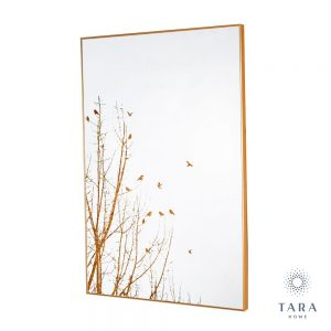 Mirror art forest silhouette gold