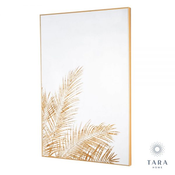 Mirror Art With Gold Frame