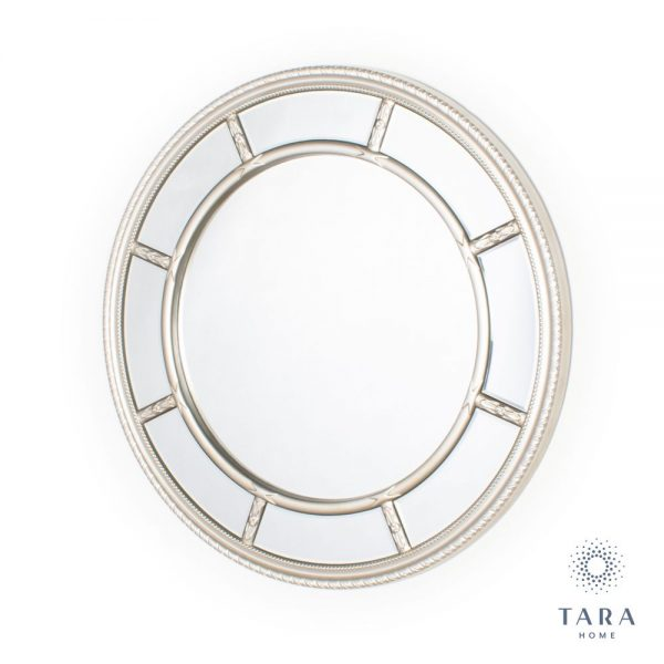 Nautilus Round Champagne Wall Mirror