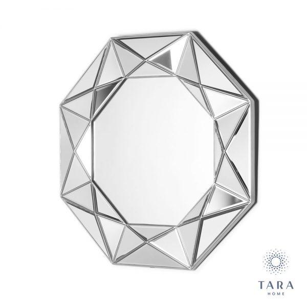 Prism Geo Silver Mirror
