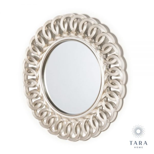 Reflections Champagne Round Loop Mirror