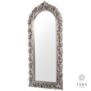 Varina Arch Top Champagne Wall Mirror