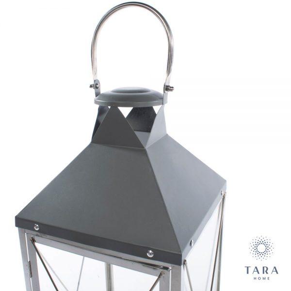 Nova Set of Two Chrome & Grey Lanterns