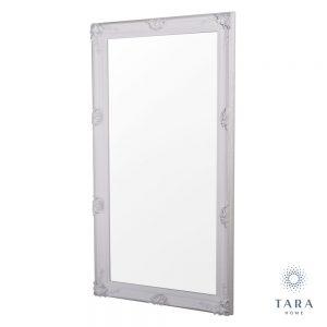 Elise Leaner Large Antique White Finish Mirror