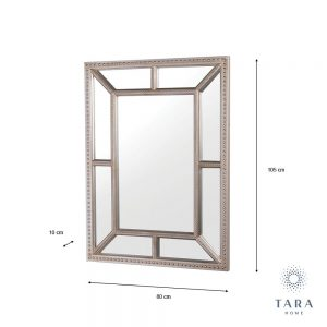 Remy Beaded Chmapagne Wall Mirror