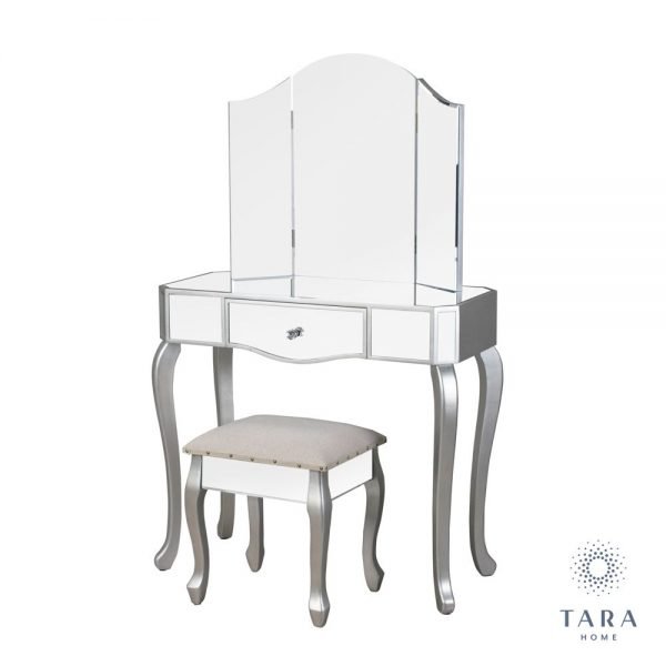 Reflections Mirrored Dressing Table and Stool Set