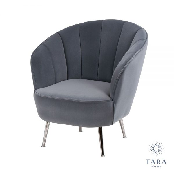 Kendall Charcoal Grey Accent Chair