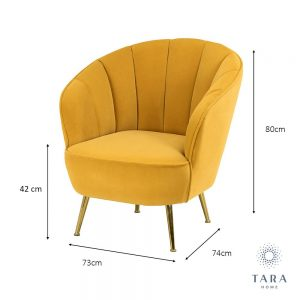 Kendall Mustard Yellow Accent Chair