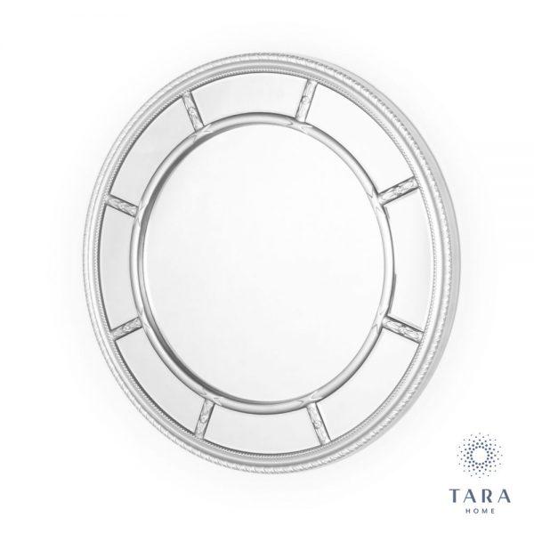 Nautilus Round Silver Wall Mirror