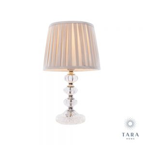 Bianca Glass Table Lamp with Shade