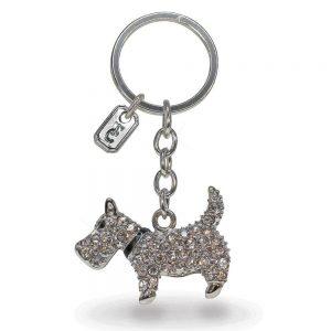 Tipperary Crystal Dog Sparkle Key Chain