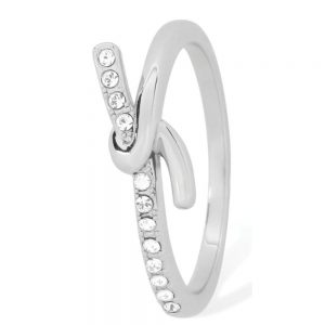 Tipperary Crystal Silver Knot Ring
