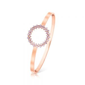 Romi Rose Gold Purple Stone Bangle