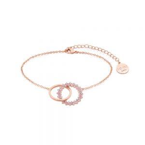 Romi Rose Gold Purple Stone Bracelet