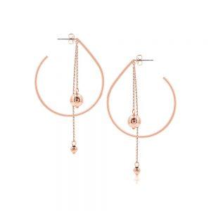 Romi Rose Gold Bead Drop Shape Earrings