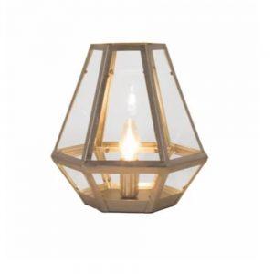 Metal and Glass Lantern Table Lamp