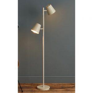 Freddie Metal and Ash Floor Lamp Height 147cm