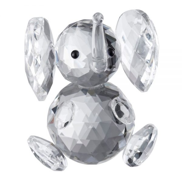 Galway Crystal Baby Elephant Height 9cm