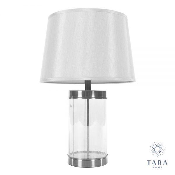 Carlee Satin Silver Table Lamp