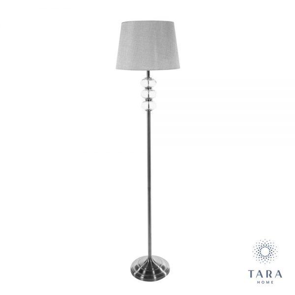 Jane Silver & Grey Floor Lamp