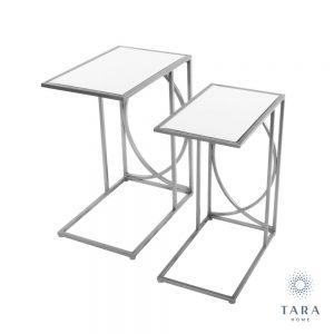 Franklin Set of 2 Silver Side Tables