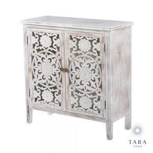 Jessie 2 Door Antique White Cabinet