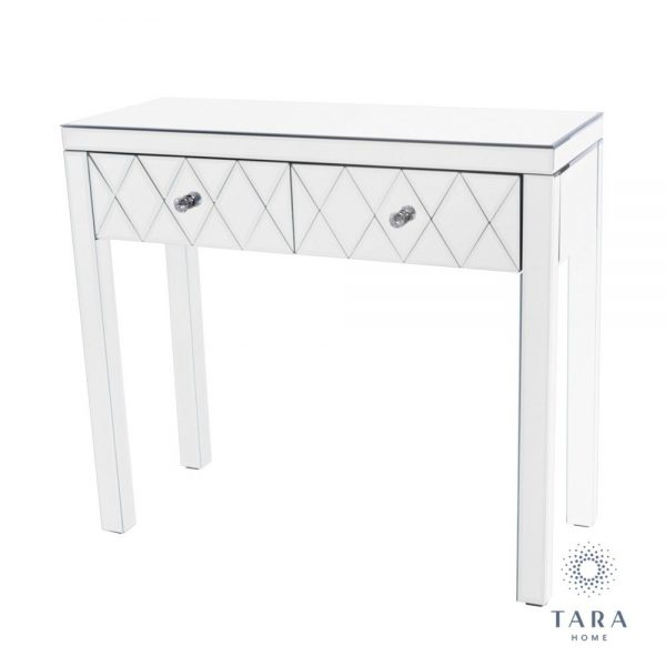Karson 2 Drawer Mirrored Console Table