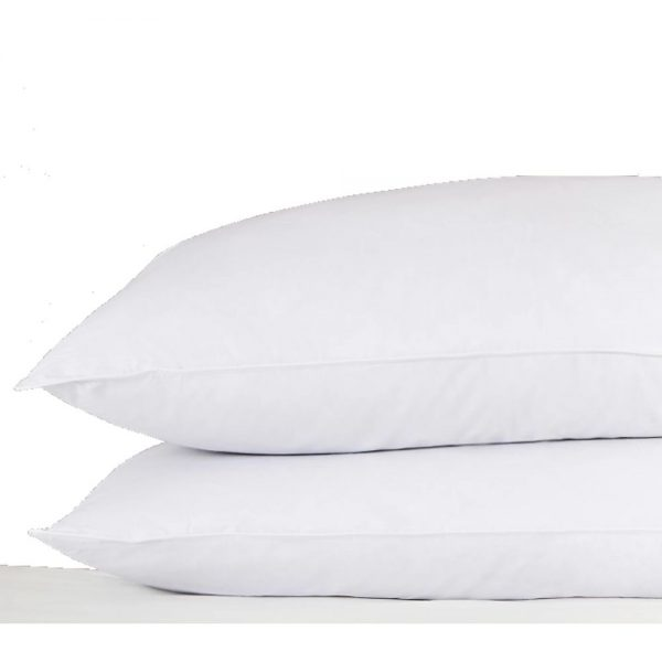 White Goose Feather and Down Pair of Pillows