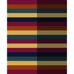 Biederlack Block Stripe Blanket Multi 150 x 200