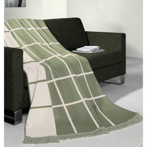 Biederlack Grid Check Green Blanket 150X200cm