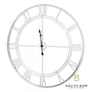 Alana Feature Wall Clock Silver Leaf