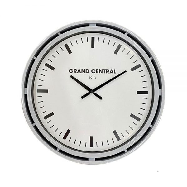 Grand Central Clock Grey Gloss Finish