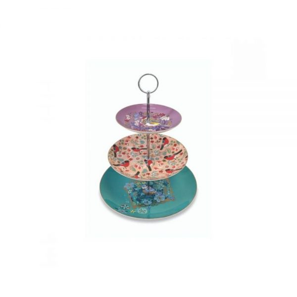 Tipperary Crystal Birdy 3 Tier Cake Stand