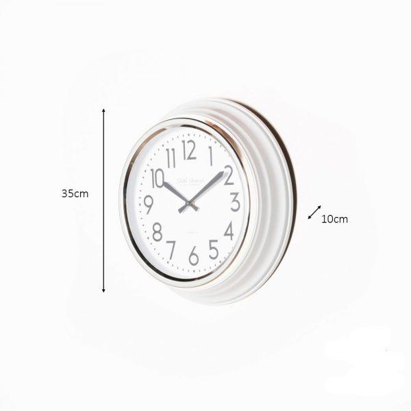 Retro Café Clock Ivory Gloss