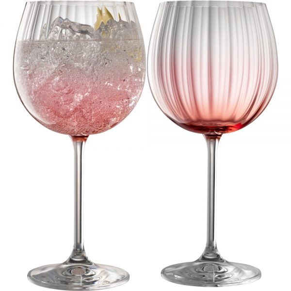 Galway Crystal Erne Gin & Tonic set of 2 in Blush