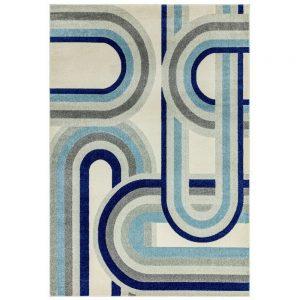 Nova Rug 120x170cm Retro Blue