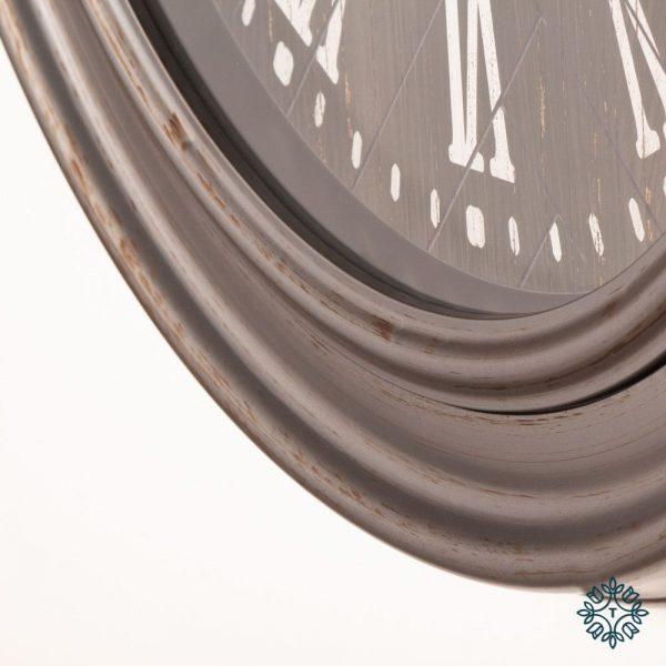 Jana Rustic Grey Wall Clock