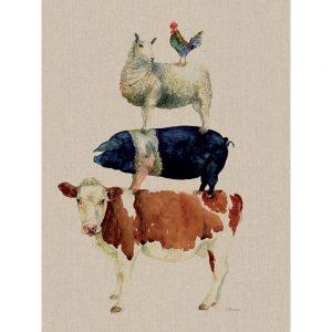 Jane Bannon Farmyard Fun Canvas Art
