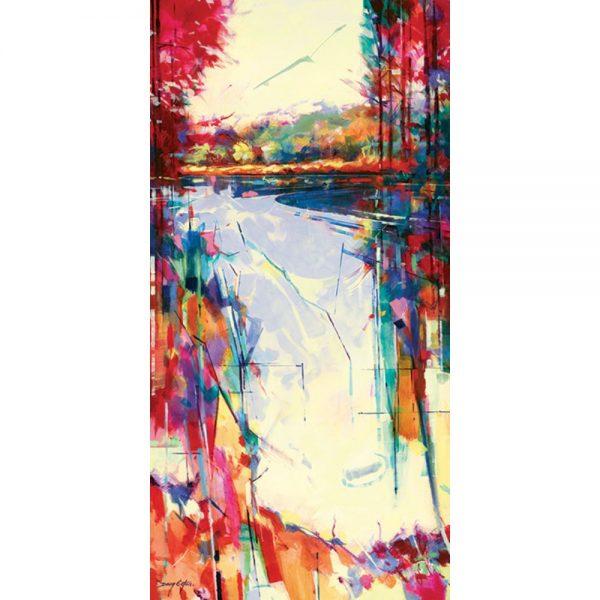 Doug Eaton Linear Lake Canvas Art